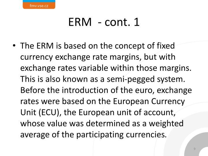 ERM  - cont. 1