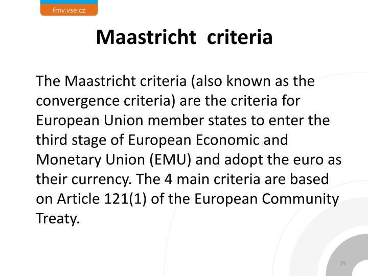 Maastricht  criteria