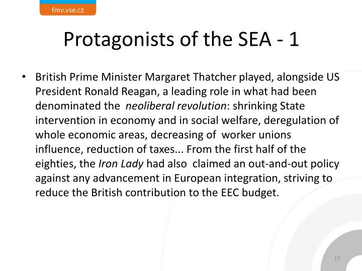 Protagonists of the SEA - 1