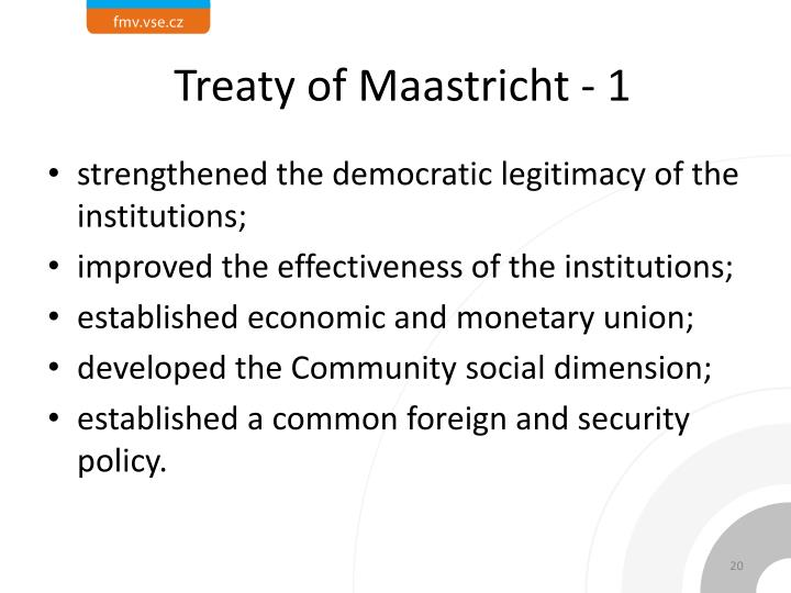 Treaty of Maastricht - 1