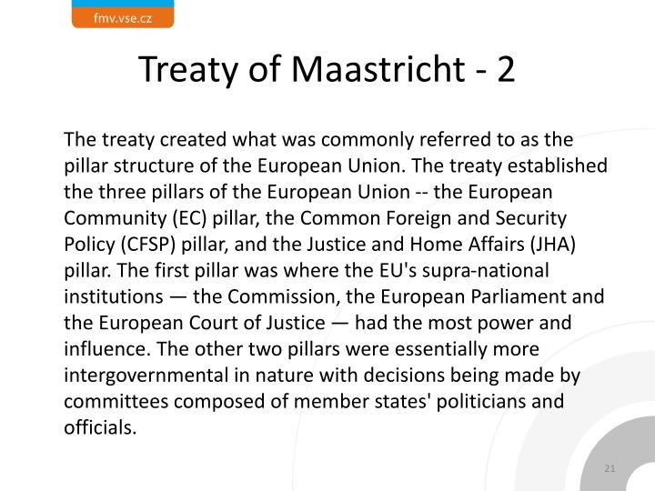 Treaty of Maastricht - 2
