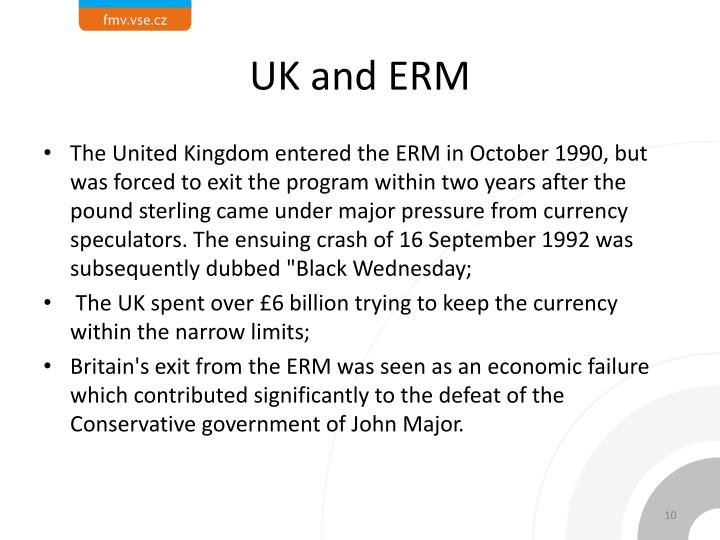 UK and ERM