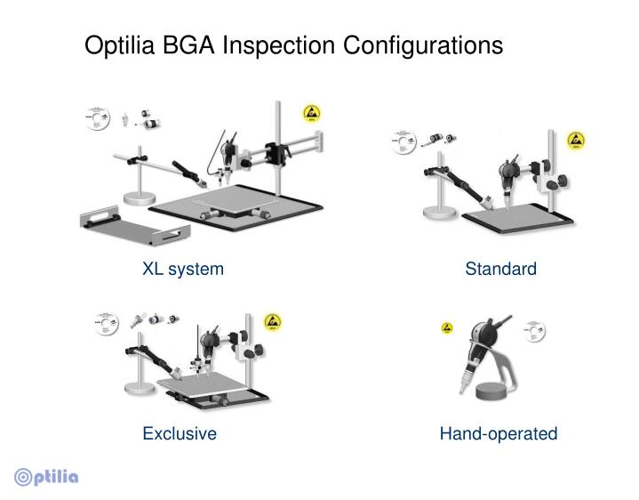 Optilia BGA Inspection Configurations