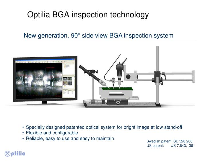 Optilia BGA inspection technology