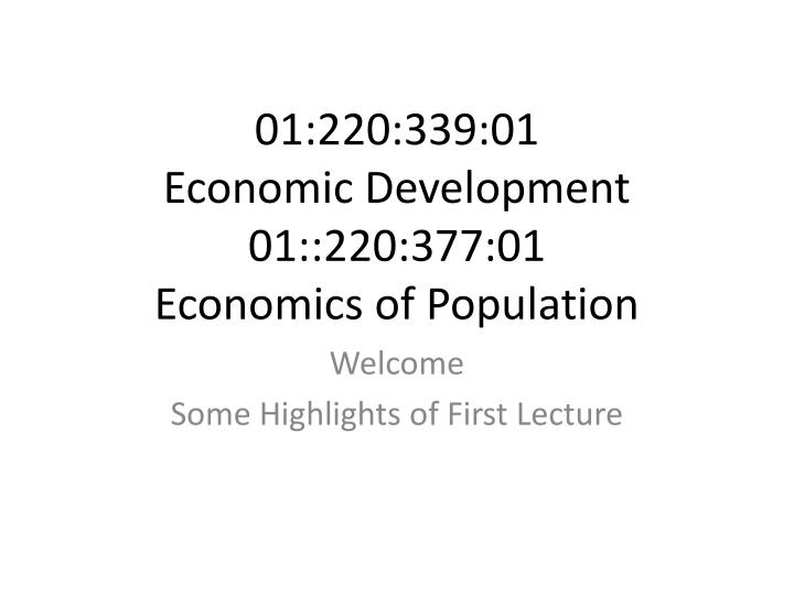01 220 339 01 economic development 01 220 377 01 economics of population