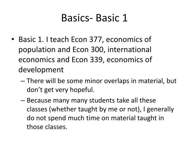Basics- Basic 1