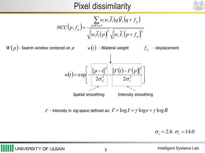Pixel dissimilarity