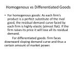 homogenous vs differentiated goods
