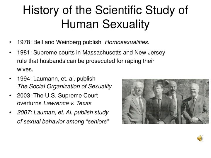 History of the Scientific Study of