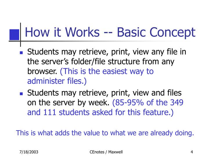 How it Works -- Basic Concept