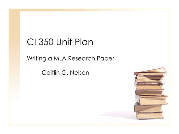writing research papers lesson plans