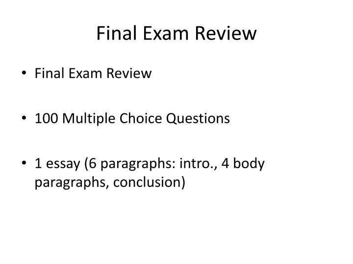 ml 350 final exam multiple choice essay Response essay and 75 sample multiple-choice questions this sample examination will not be allowed into and on page 2 of the multiple-choice exam.