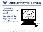 administrative details1
