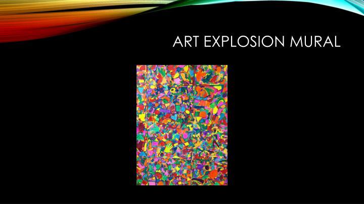 Art explosion mural