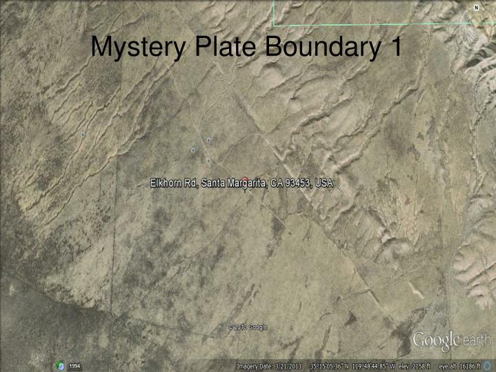 Mystery Plate Boundary 1