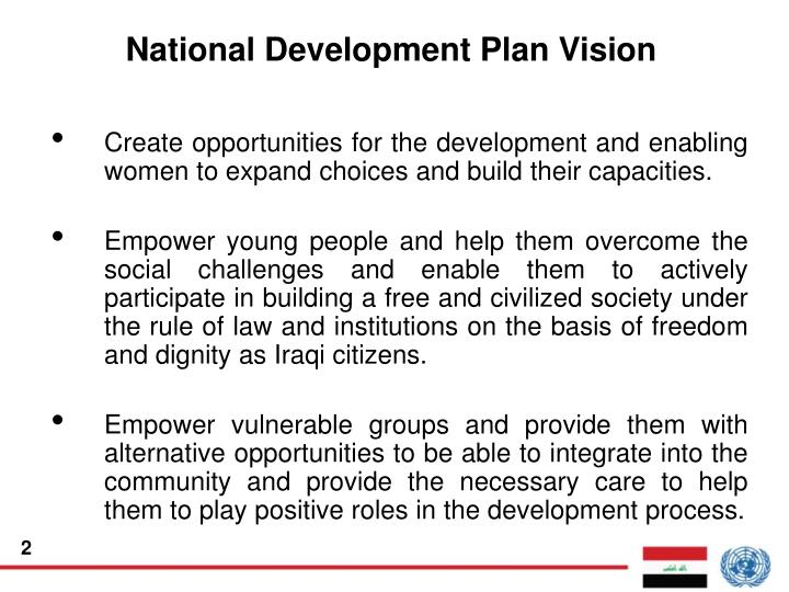 National development plan vision