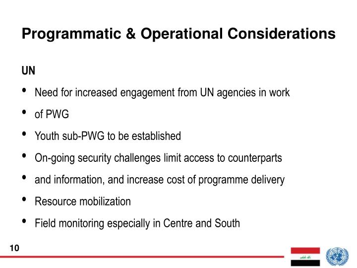 Programmatic & Operational Considerations