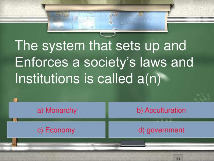 The system that sets up and