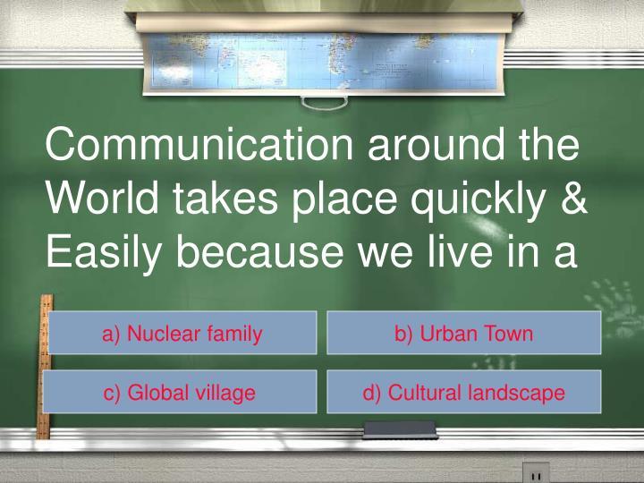 Communication around the