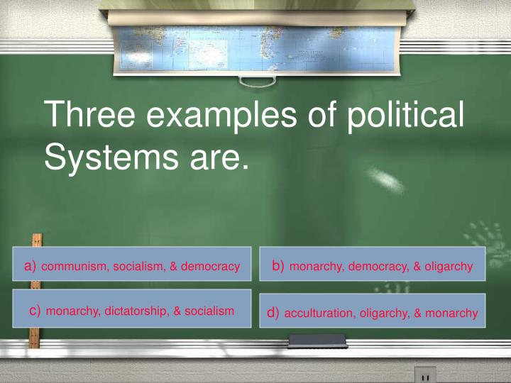 Three examples of political