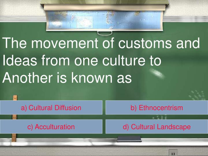 The movement of customs and