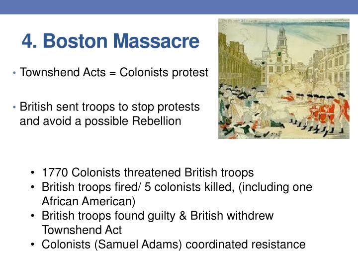 4. Boston Massacre