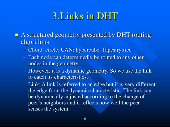 3.Links in DHT