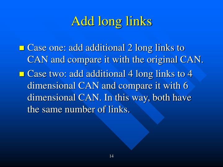 Add long links