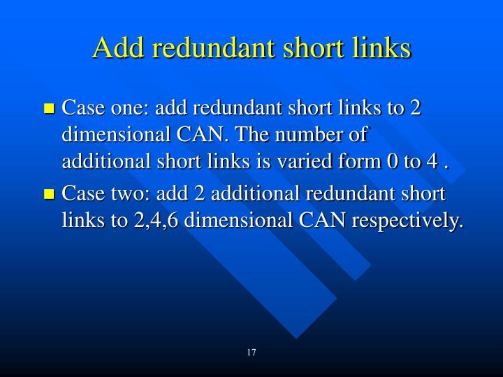 Add redundant short links