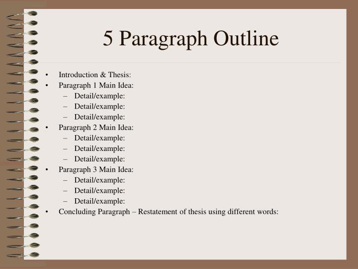 5 Paragraph Outline