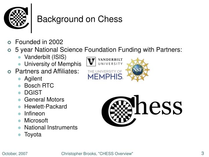 Background on chess