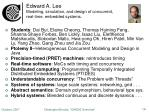 edward a lee modeling simulation and design of concurrent real time embedded systems