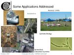 some applications addressed
