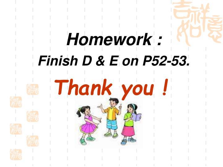 Homework :