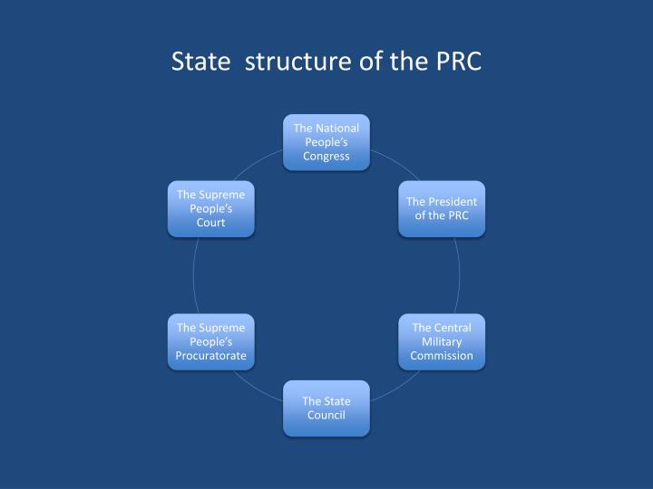 State  structure of the PRC