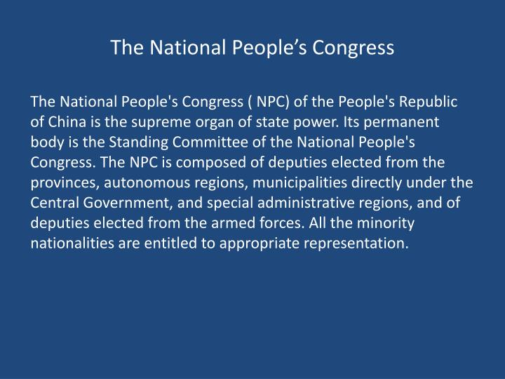 The National People