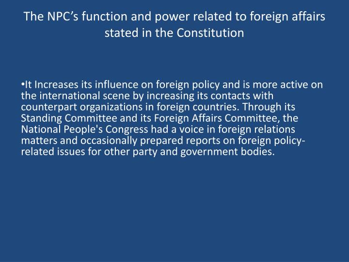 The NPC