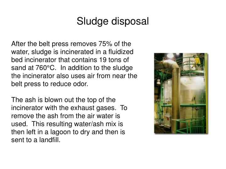 Sludge disposal