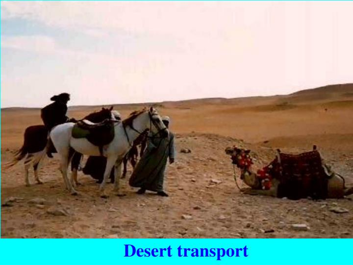 Desert transport