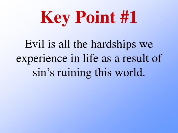 Key Point #1