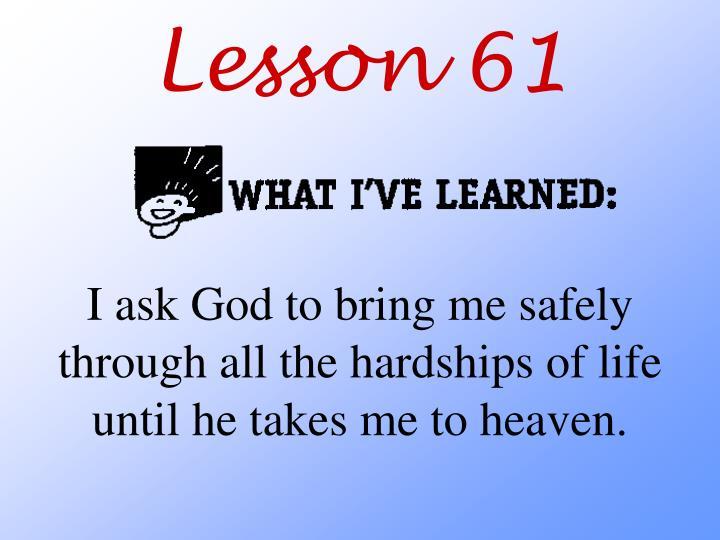 Lesson 61