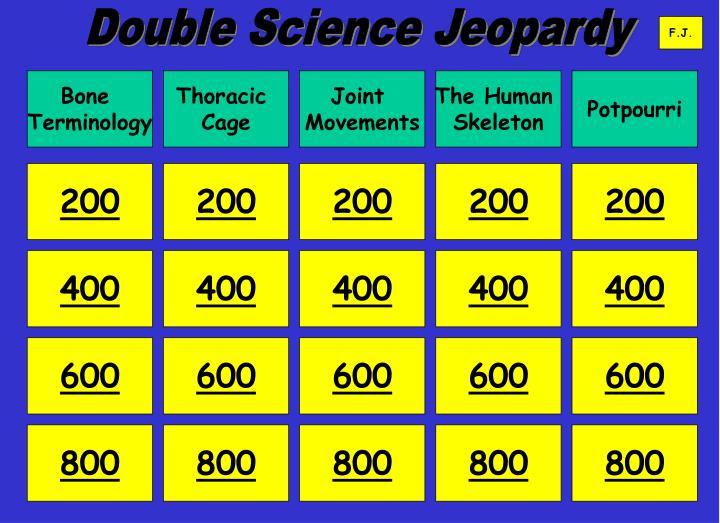 Double Science Jeopardy