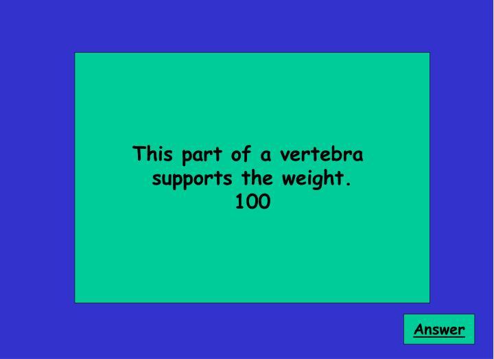 This part of a vertebra