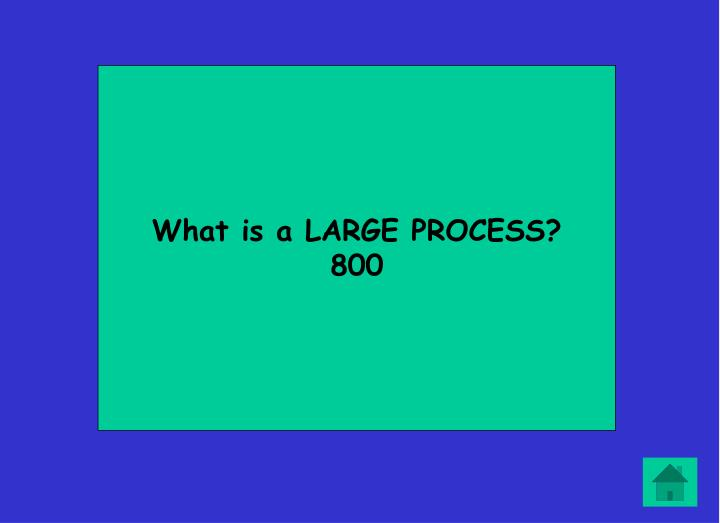 What is a LARGE PROCESS?