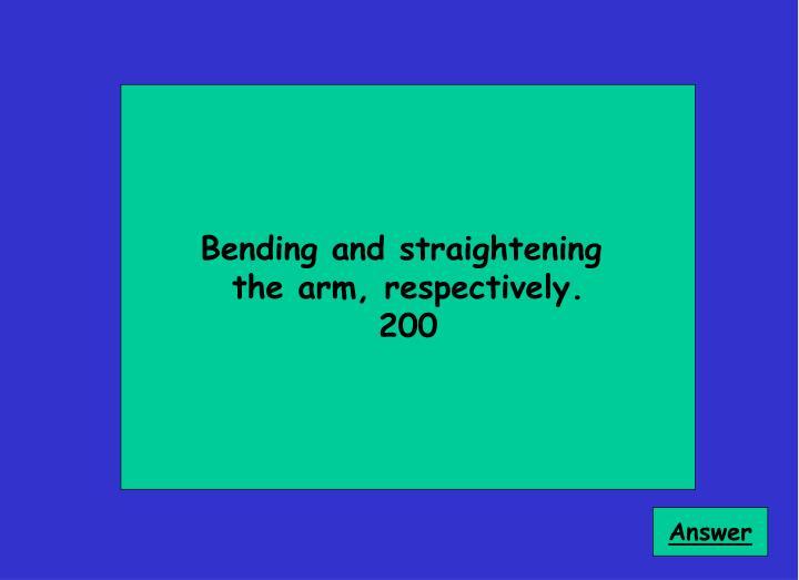 Bending and straightening