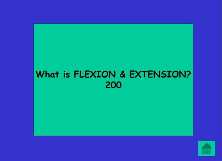 What is FLEXION & EXTENSION?