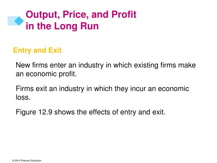 Output price and profit in the long run1