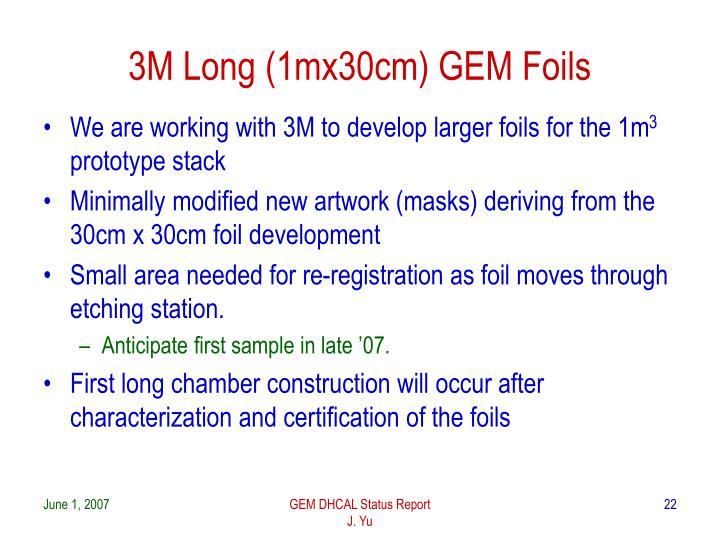 3M Long (1mx30cm) GEM Foils