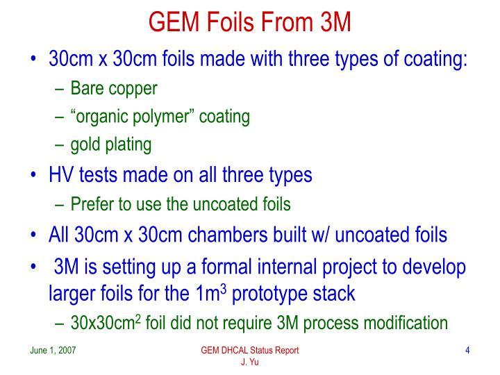 GEM Foils From 3M