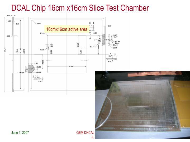 DCAL Chip 16cm x16cm Slice Test Chamber